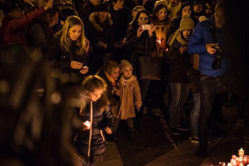 Pray For Paris - A terror áldozataira emlékeztünk - Budapest, 2015. 11. 12.
